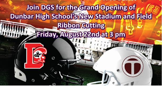 Dunbar High School Stadium and Field Ribbon Cutting 8-22-14