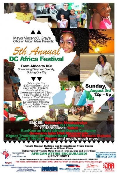 5th Annual DC Africa Festival poster