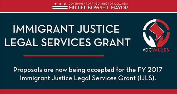 FY17 Immigrant Justice Legal Services Grant.
