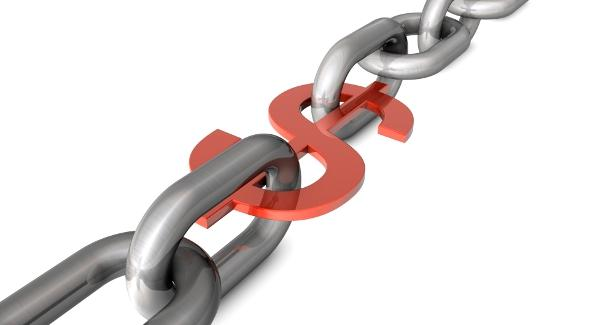 image of a chain with a dollar sign link