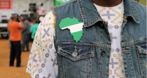 Person wearing Africa pin