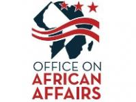 DC Mayor's Office of African Affairs logo in dark teal and red