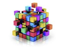 picture of a multi-colored cube